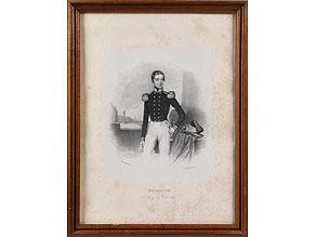Lithografiertes Bildnis von Friedrich Erzherzog von Österreich