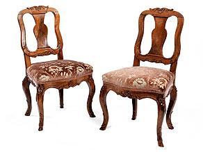 Paar Rokoko-Stühle