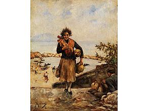Vincenzo Migliaro, 1858 Neapel - 1938, Werke seiner Hand im Museum von San Martino Napoli