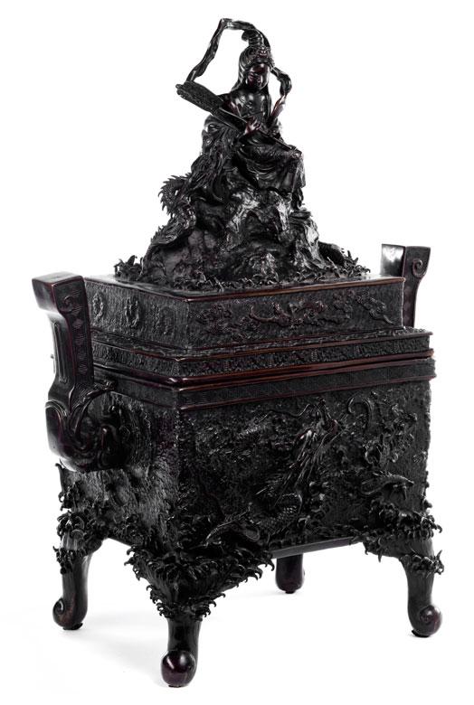 Großer, monumentaler Bronze-Koro