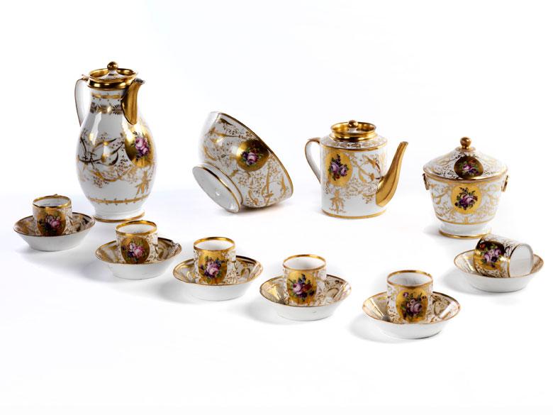 Biedermeier-Kaffee- und Teeserviceteile