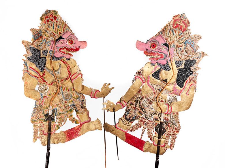 Zwei balinesische Schattenfiguren
