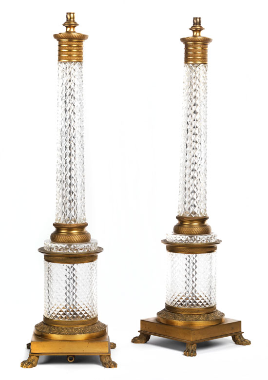 † Paar monumentale Kombinationsleuchter