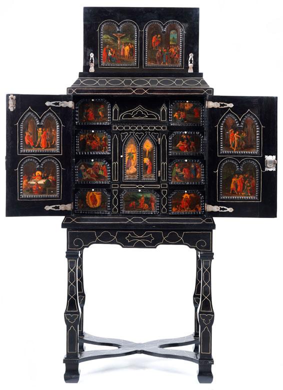 Seltenes, elegantes Tabernakel-Kabinett