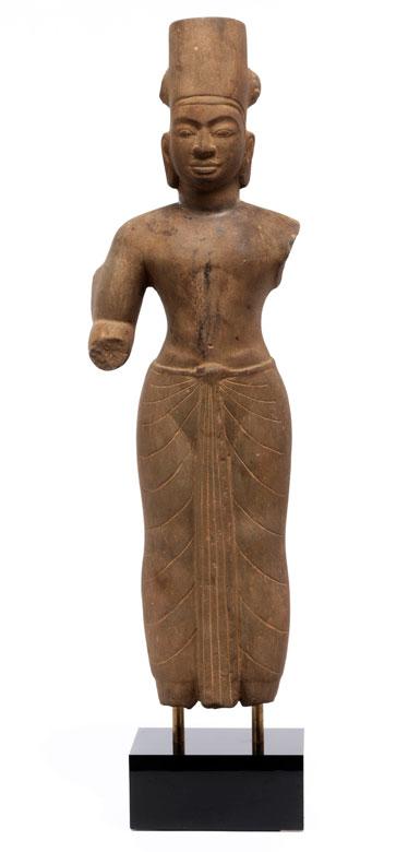 Steinfigur eines vierarmigen Vishnu