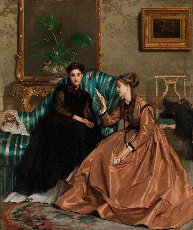 † Gustave Léonard de Jonghe, 1829 Courtrai - 1893 Antwerpen