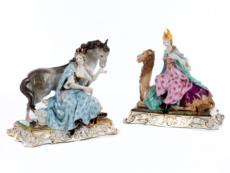 Paar Porzellan-Figurengruppen