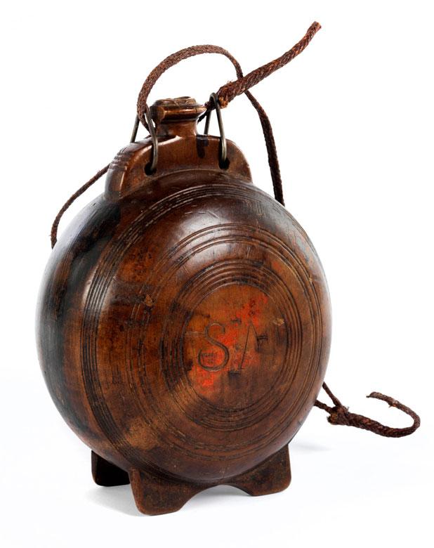Hölzerne Pilgerflasche