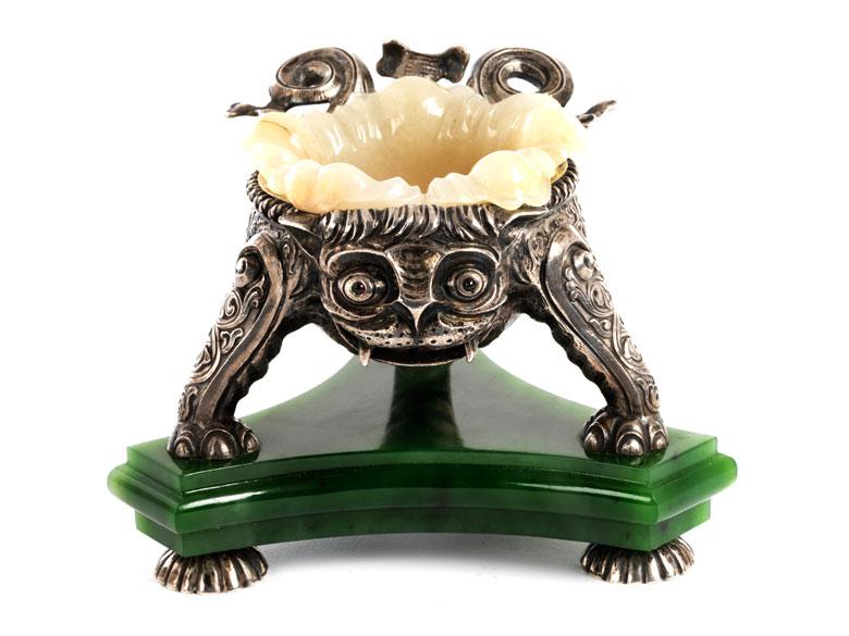 Außergewöhnliche Salière mit Stempelung Fabergé