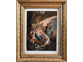 Hinterglasbild mit qualitätvoller Malerei des 18. Jahrhunderts