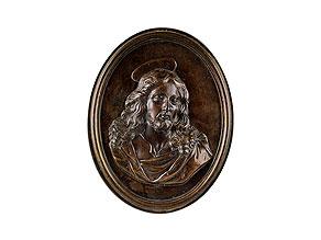 Ovale Bronzeplakette