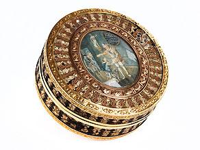 Runde Gold-Schildpattdose