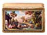 Detail images: Golddose mit Email-Landschaftsmalerei