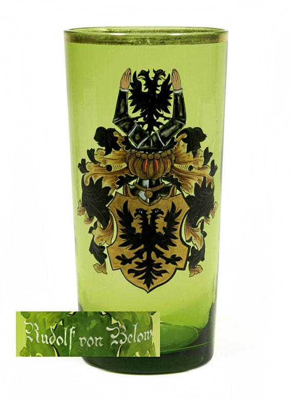 Wappenglas des Rudolf von Below
