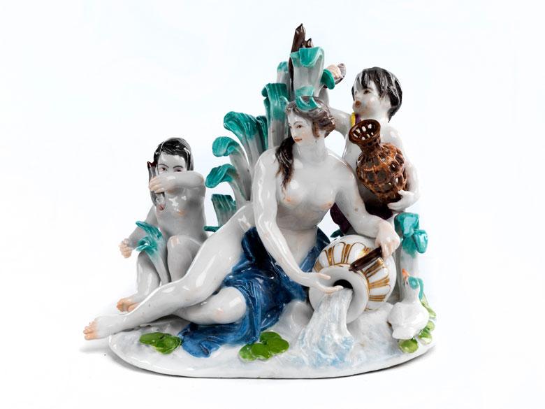 Meissener Porzellanfigurengruppe Wasser