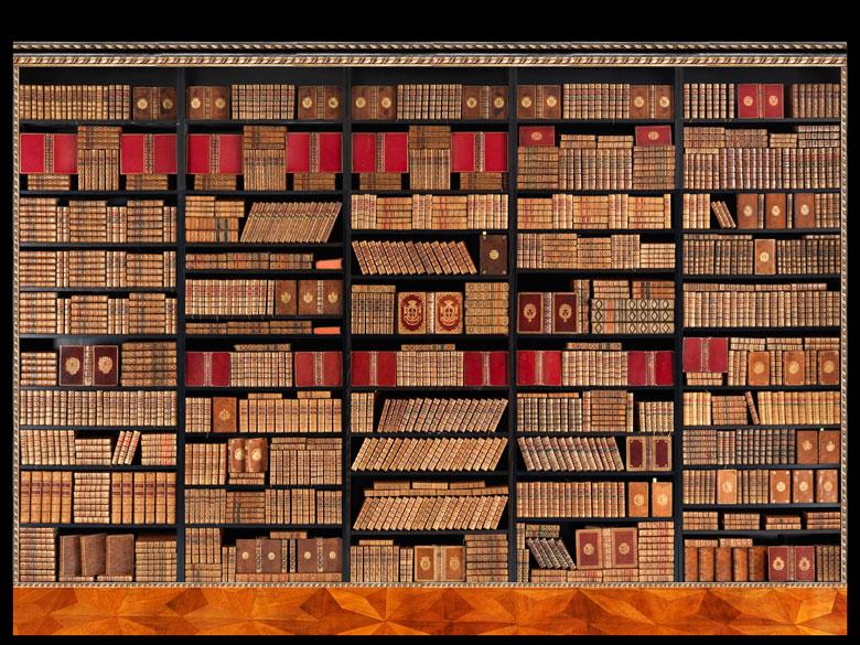 † Eine Bibliothek mit 995 Büchern des 18. Jahrhunderts