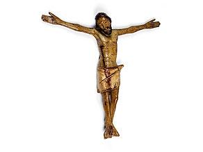 Schnitzfigur eines Christuscorpus