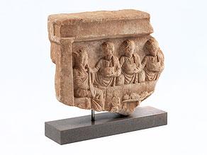 Relieffragment einer Grabstele