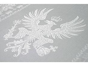 Detail images:  Banketttafeltuch aus dem ehemaligen Besitz Kaiser Wilhelm II als König von Preußen