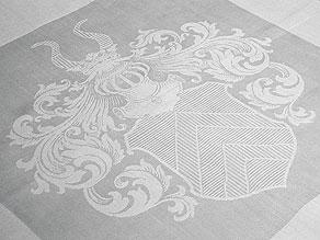 Detail images:  Sechs Mundtücher mit Wappen der Herren v. Breitenbuch