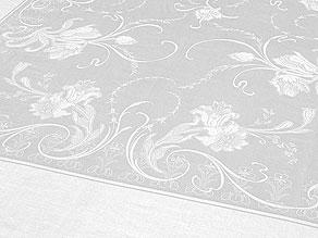 Detail images:  Jugendstil-Prachttafeltuch mit Papageientulpen aus dem ehemaligen Besitz eines freiherrlichen Hauses