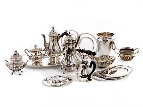 Konvolut von 15 Silberobjekten