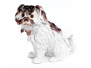 Meissener Porzellanfigur eines Bologneser -Hündchen