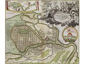 Original-Karte von St. Petersburg