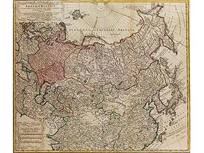 Original-Karte des asiatischen und europäisch russischen Reiches