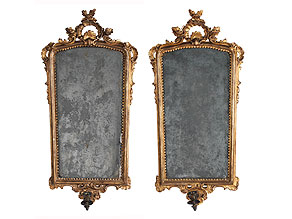 Paar Rokoko-Wandspiegel