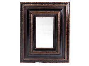 Barocker Flammleistenrahmen mit Spiegelglas