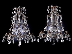 Paar Lüster aus Bergkristall