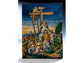 Majolika-Bildplatte aus der Werkstatt der Fontana um 1550