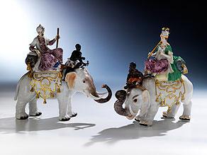 Paar Meissener Porzellanfiguren