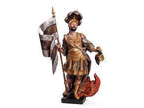 Schnitzfigur des Heiligen Florian