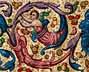 Detail images: Paar Antiphonar-Blätter mit reicher Buchmalerei