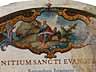 Detail images: Deckblatt des Johannes-Evangeliums mit reicher Buchmalerei