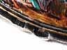 Detail images: Tafelaufsatz-Schiffchen in Bergkristall mit Silbermontierung und Emailmalerei