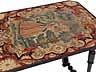 Detail images: Kleiner Salontisch in Eiche mit Tapisserieeinlage in der Deckplatte