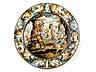 Detail images: Große Castelli-Bildplatte von Carlo Antonio Grue, 1655 - 1723