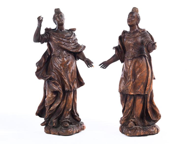 Paar Frührokoko-Schnitzfiguren