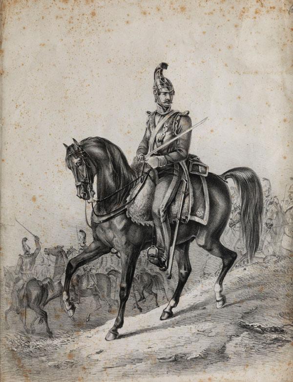 Lithografie von Ludwig Voltz, 1825 - 1911 München