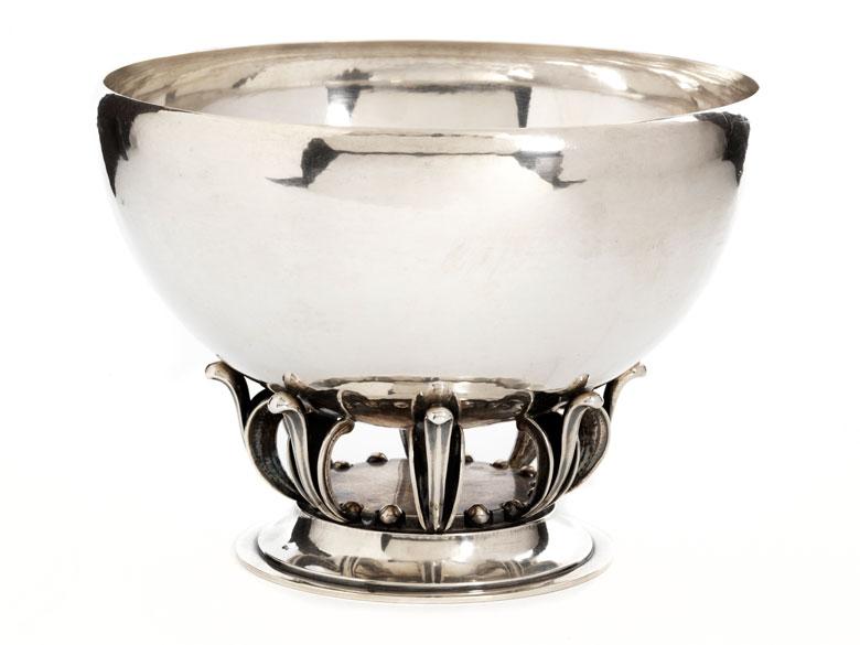Silberne Schale von Georg Jensen