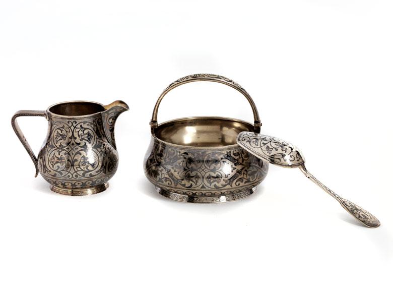 Kleine Silbergarnitur