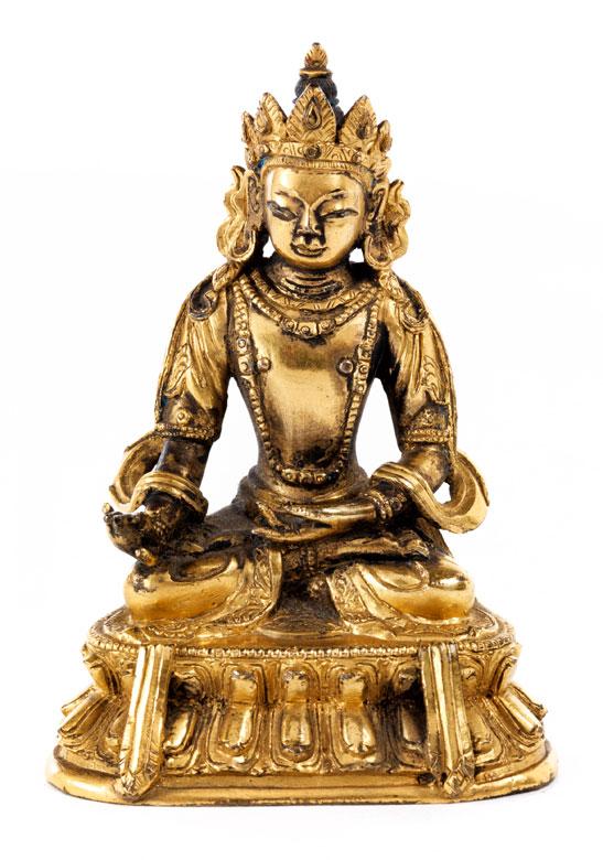 Vergoldete Bronze der Akshyobhya-Figur