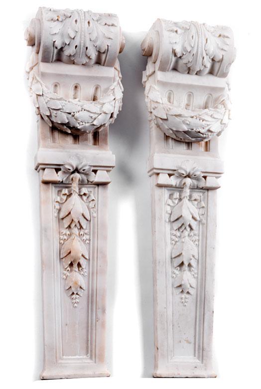 Paar Marmor-Lisenen