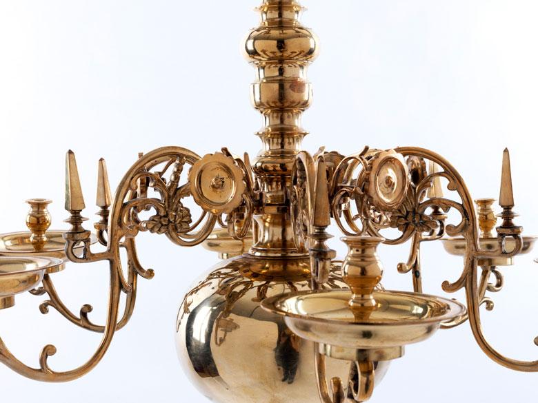 Kronleuchter Barock ~ Barocker kronleuchter bronze massiv antiquitäten