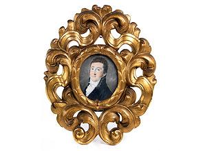 Ovales Miniaturportrait