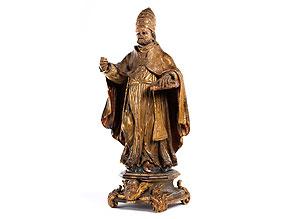 Schnitzfigur des Heiligen Urban