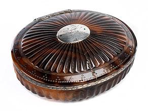 Ovale Schildpattdose